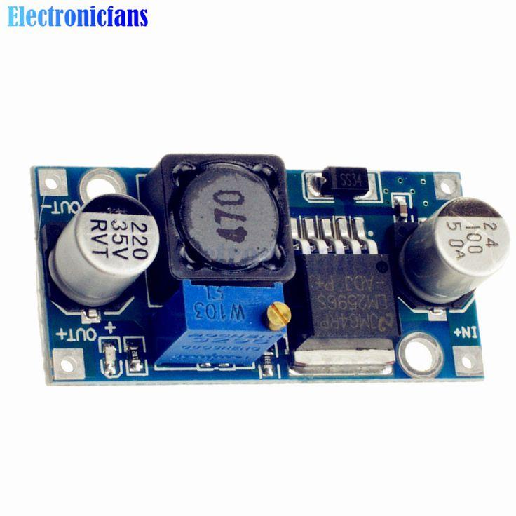DC-DC Step Down Buck Converter Module LM2596 3.2V-40V To 1.25V-35V Adjustable Power Voltage Regulator 43x21x14mm High Efficiency //Price: $0.67//     #Gadget