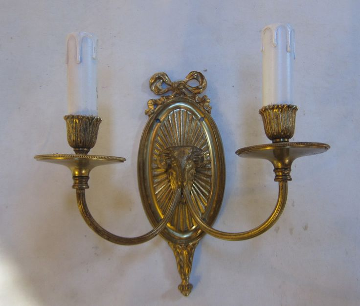 Pair of two arm wall lights exeter antique lighting company