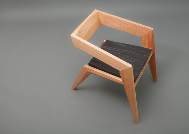 Furniture, Furniture Elbow Chairs Wooden Chairs Seat Design Lacquer Teak Wood Untreated Right Angle Chairs Texture Composition Above Functional Art: Marvellous Celebrating Avant-Garde Minimalism: 2R Armchair by Sien Studio