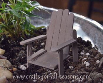 fairy garden adirondack chair  - make it yourself