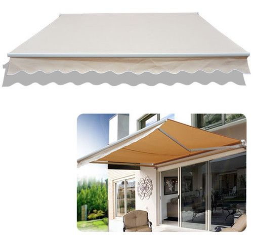 Outdoor 8 2'×6 6' Manual Retractable Patio Deck Awning SUN Shade Canopy Shelter | eBay