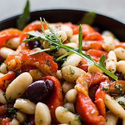 Roasted Bell Pepper and White Bean Salad