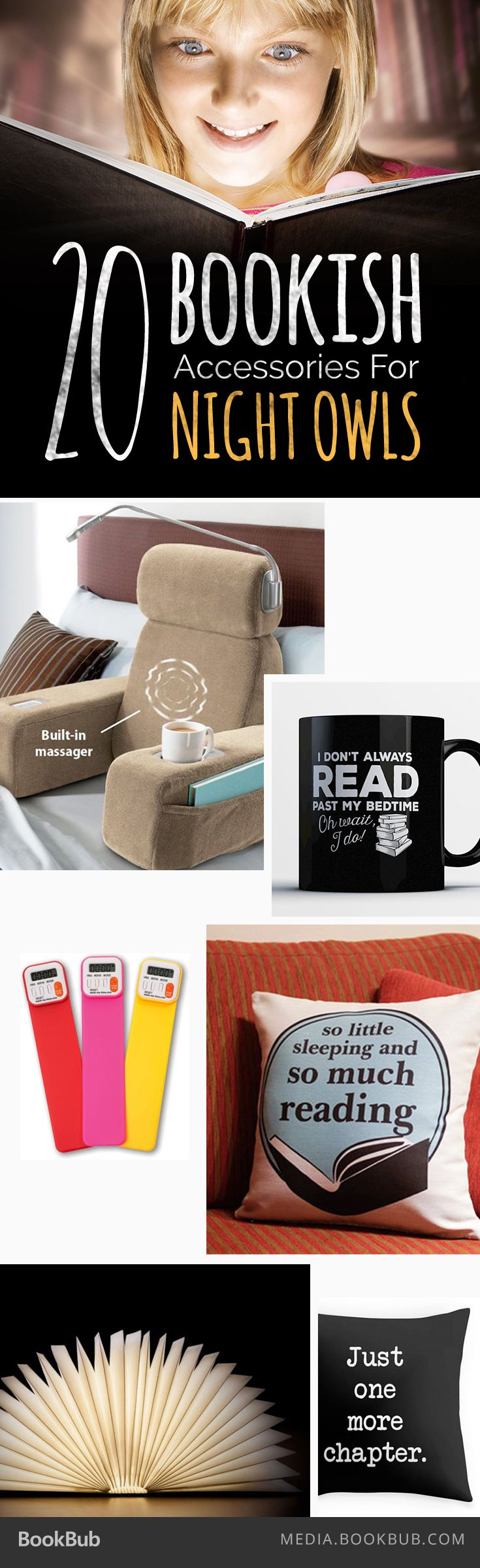 20 Bookish Accessories For Night Owls