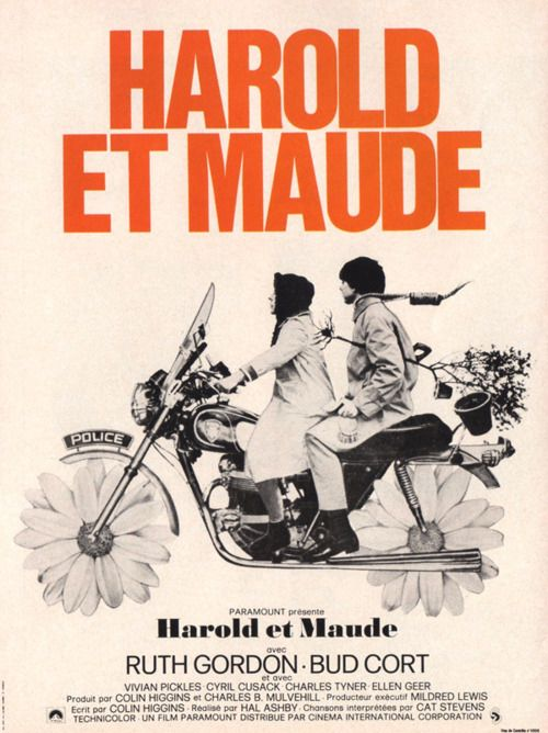 harold & maude (by hal ashby)......     Contact the Filmmakers on IMDbPro »         3,444    Harold and Maude (1971)    Young, rich, and obsessed with death, Harold finds himself changed forever when he meets lively septuagenarian Maude at a funeral.