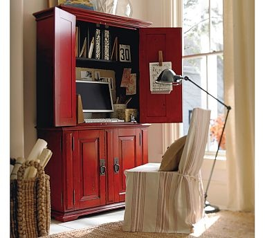 great idea for a small space. I love it that you can just close the door and its a nice piece of furniture.
