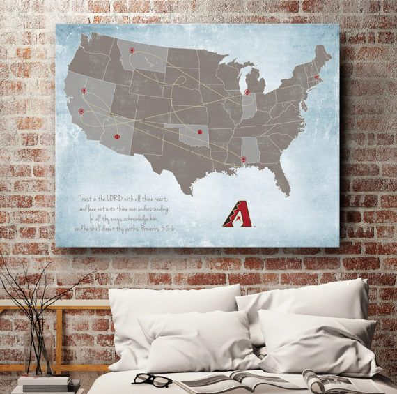 "Major League Baseball Map, Minor League Baseball Map, Baseball Stadium Map, Football Stadium Map, Stadium Map, up to 30"" x 40"""