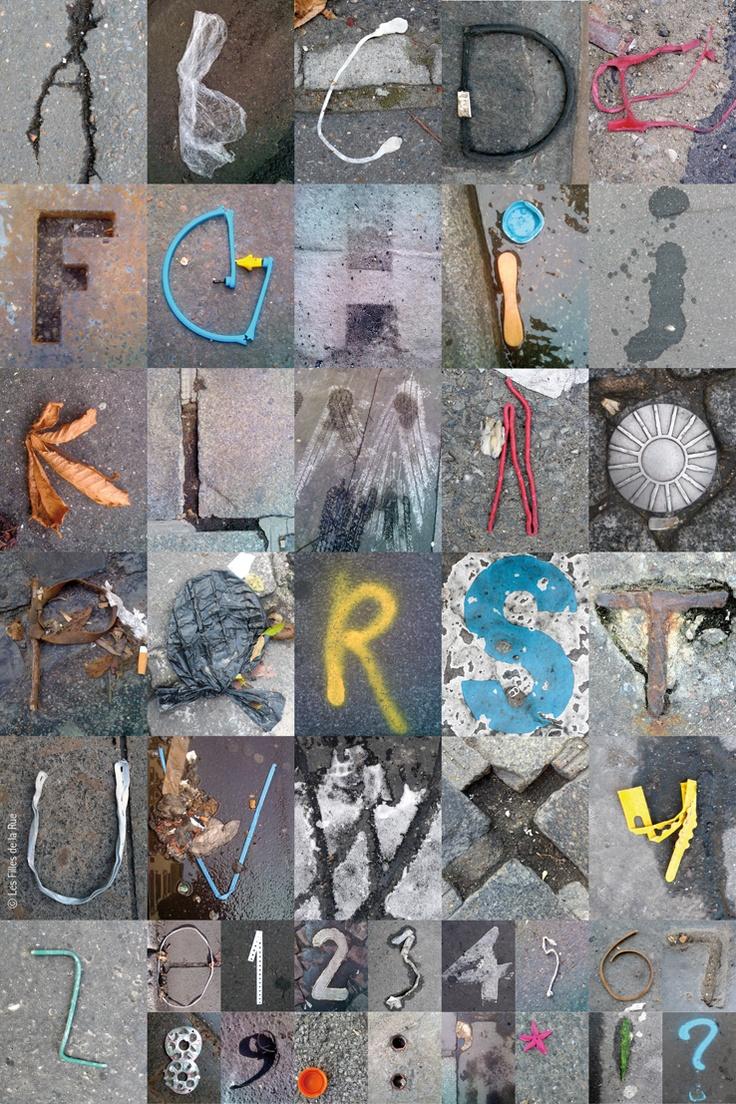 Street Words / ALPHABITUME 01  Les ALPHABITUMES sont des lettres captées  sur le bitume !