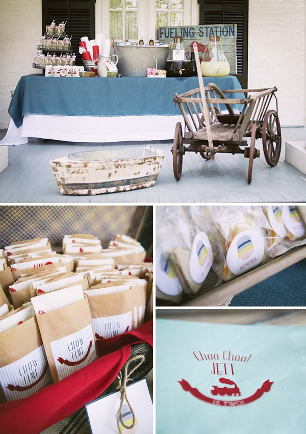 Vintage Train Birthday Party {Red, Blue & Choo Choo!} // Hostess with the Mostess®