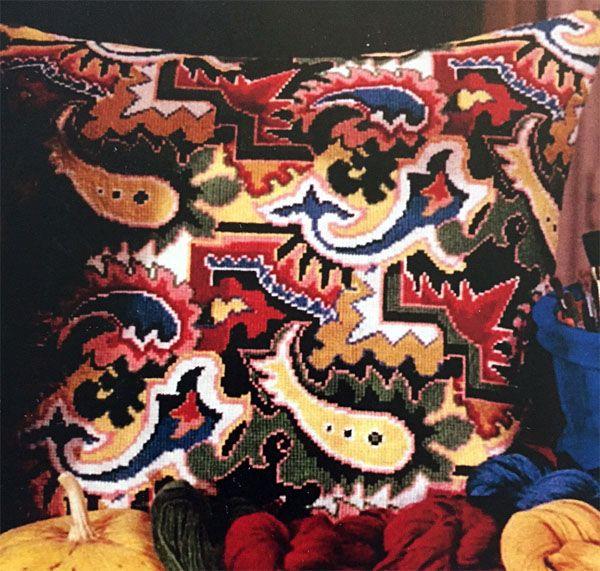 Kudde med art deco-mönster | Brodera Mera