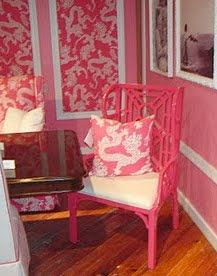 pretty pink perchLilly Pulitzer, Pink Perch Chairs, Perch Chairs Lilies, Pretty Pink, Pulitzer Chairs, Lilies House, Pink Chairs, Lilly Pulitizer, Chinoiserie Chic