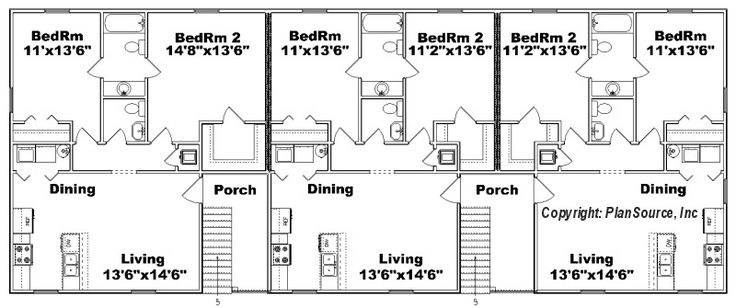 J0418 11 6 floor plan ad 72288 bytes duplex for Duplex plans for seniors