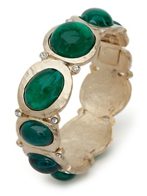 Loving green jewelry these days. Gold BanglesFashion HairEmerald GreenKenneth  Jay ...