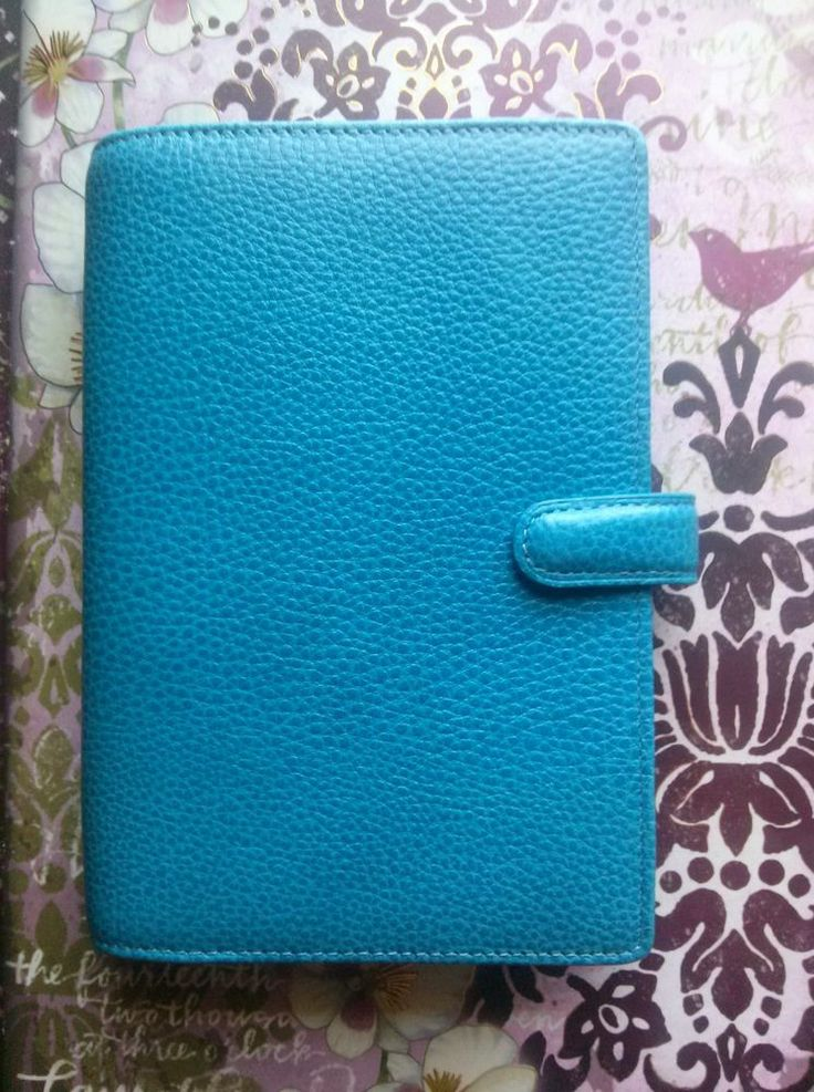 Blue Finsbury Filofax Personal size New Without Box