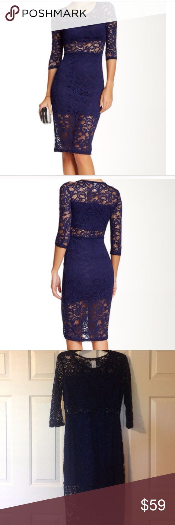 Nwot Blvd Nordstroms  Bodycon lace dress No flaws new without tags Blvd Dresses Midi