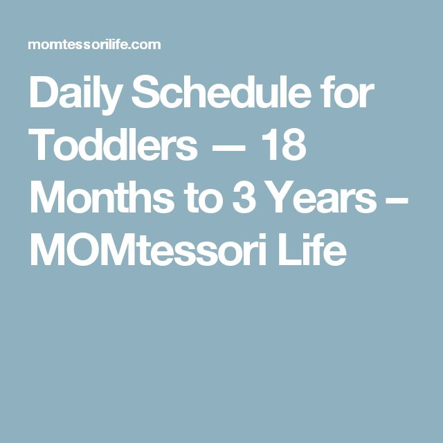 Daily Schedule for Toddlers — 18 Months to 3 Years – MOMtessori Life