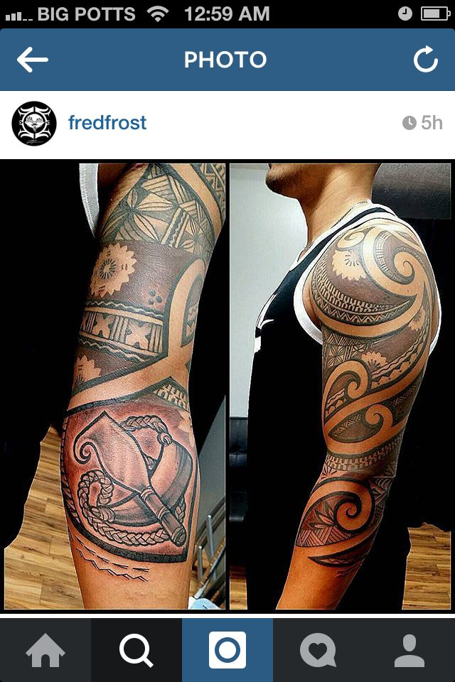 Fijian tribal sleeve