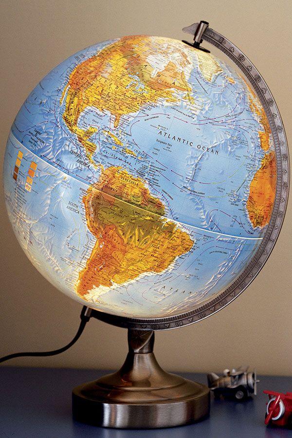 Kids Illuminated World Globe Lamp