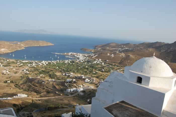 View over the island of Serifnos