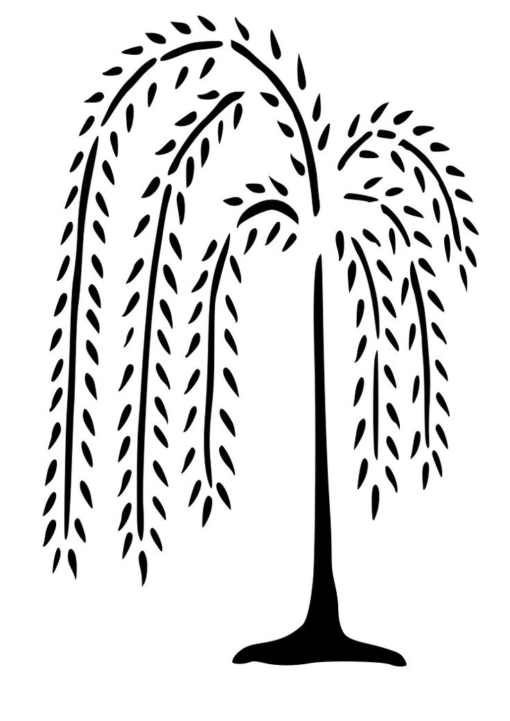 Weeping Willow Tree Wall Decal Nursery Wall Decals