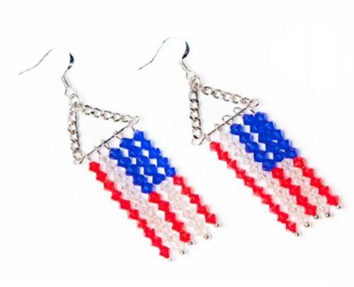 18 best jewelry patriotic images on pinterest bead for Patriotic beaded jewelry patterns