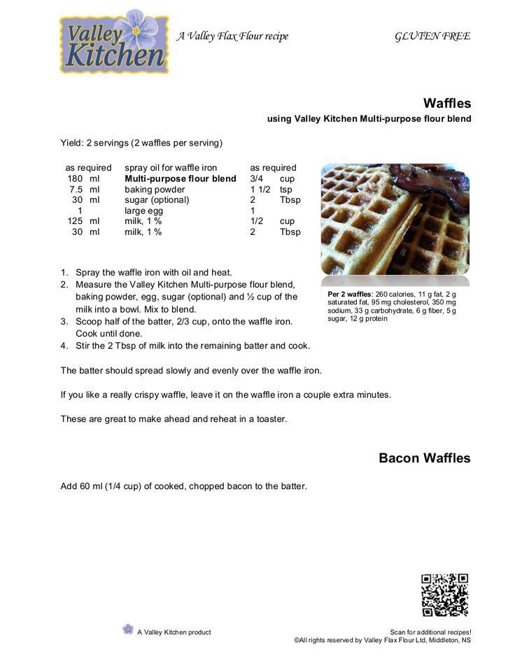 Waffles using Valley Kitchen Multi-Purpose Flour Blend