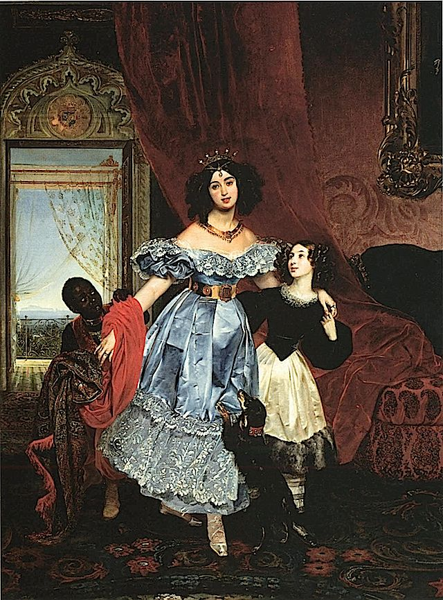 1832-1834 Countess Samoilova by Karl Brullov (Russian State Museum, St. Petersburg)
