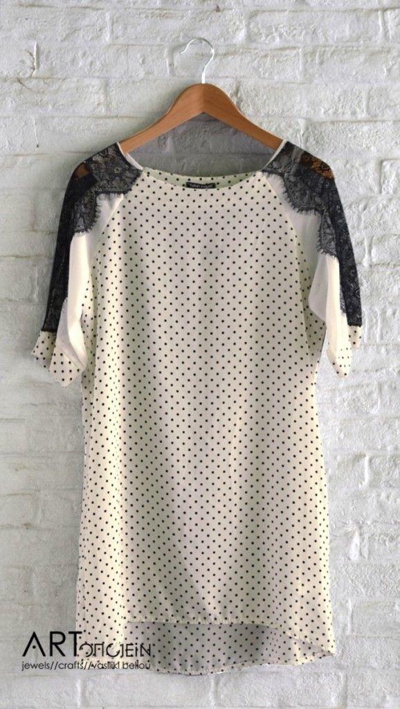 Πουά φόρεμα με δαντέλα Fullah Sugah