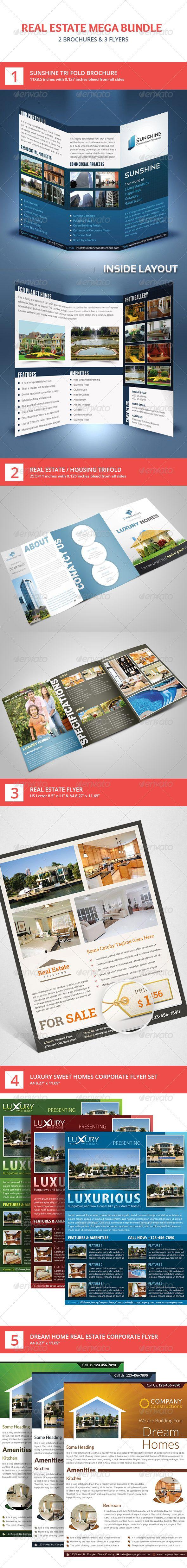 House for sale real estate flyer amp ad template word amp publisher - Real Estate Flyer Brochure Mega Bundle