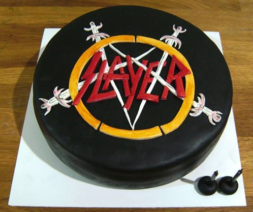 Best Slayer Cakes Images On Pinterest Heavy Metal Desserts - Slayer birthday cake