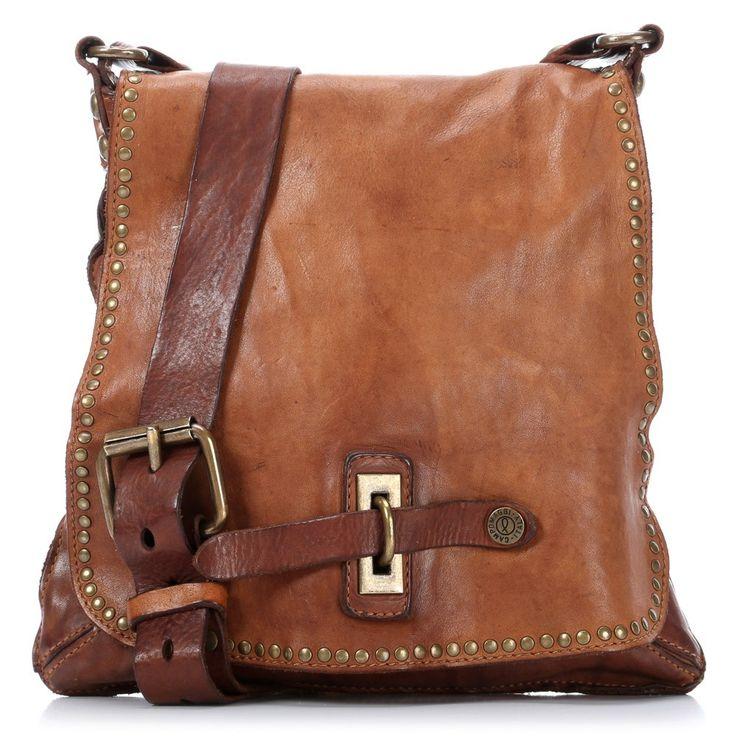Campomaggi Lavata Shoulder Bag Leather cognac 29 cm - C1226VL-1702 - Designer Bags Shop - wardow.com