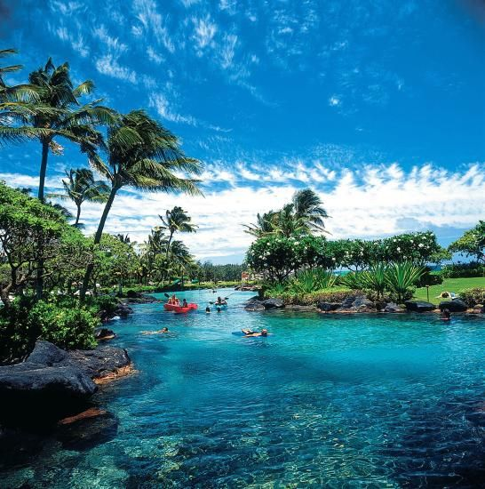 Grand Hyatt in Kauai, I need to be in that water. Now.