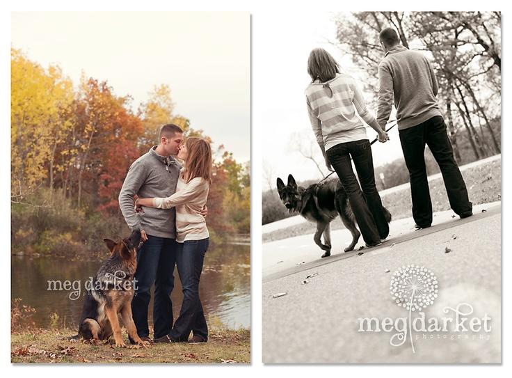 Engagement session with dog | Meg Darket Photography