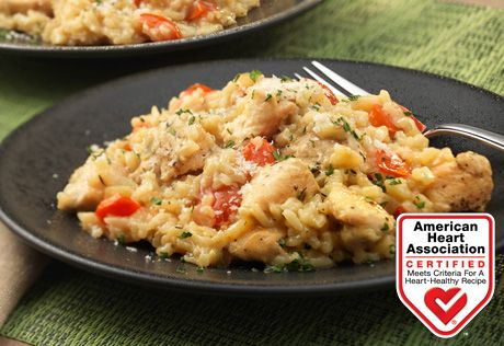 Savory dinners like this one-skillet creamy chicken and rice allow you to transform on-hand ingredients into a delicious meal your whole family will enjoy!Please note that the Heart-Check Food Certification does not apply to recipes or information reached through links unless expressly stated.