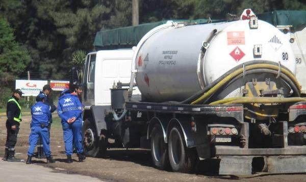 Campana controló transportes de carga con residuos especiales