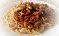Эликсир молодости: Спагетти с креветками и морепродуктами