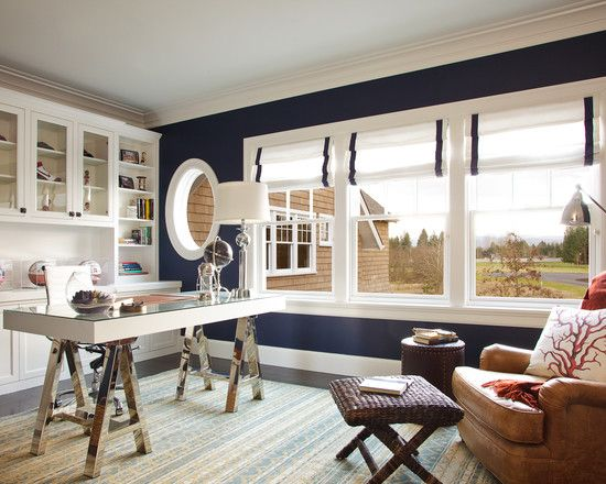 """Love the nautical theme and the window coverings -- possibly for the kitchen? one of my absolute favorite wall colors...works in """"ANY"""" room!"""