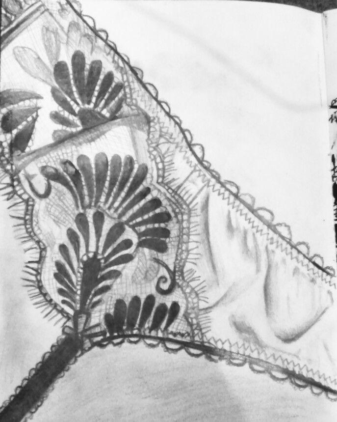 Suspender belt lace sudy