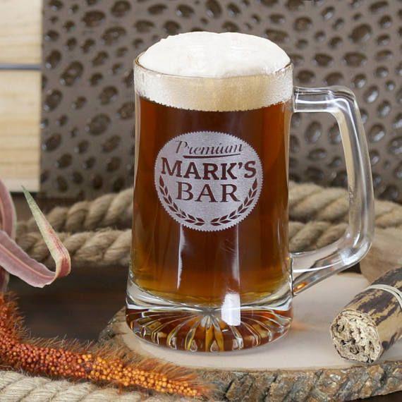 Personalized Beer Mug Personalized Beer Glass Drinkng Mug