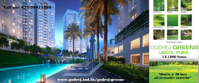 "Godrej Group presents an extravagant residential project ""Godrej Greens"" at Undri Pune. It fulfills all the requirements according to your dream home. Why go anywhere book your own Apartment near Undri Pune.  Book your dream home now.  For any query or details Call us:- 022-39971888  Or Visit- http://www.godrej.ind.in/godrej-greens/"