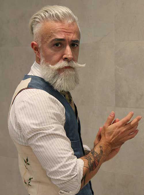 Older Guy With White Hair Gems Beard Styles Grey