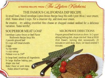 Lipton Onion Soup Meatloaf | Hey, My Mom Used to Make That