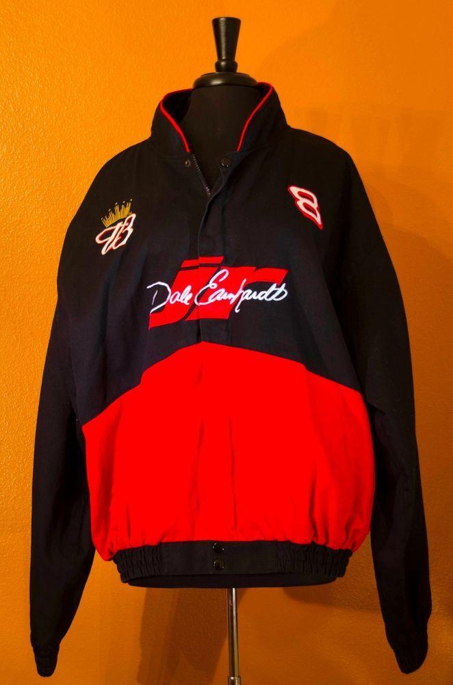 NASCAR Jacket #8 DALE EARNHARDT JR XXL RACING BUDWEISER WINSTON CUP Black Red #Budweiser #DaleEarnhardtJr