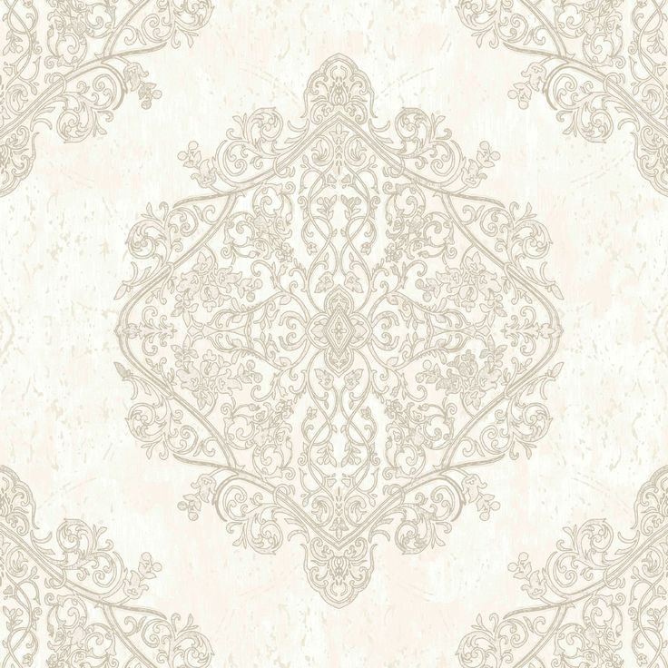 Marrakesh Champagne Gold Moroccan Damask Glitter Wallpaper