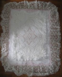 Custom Wedding Dress Quilt Finished! MaryMansonQuilts.blogspot.com