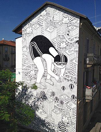Street art, Mural #03 for Bart - Torino