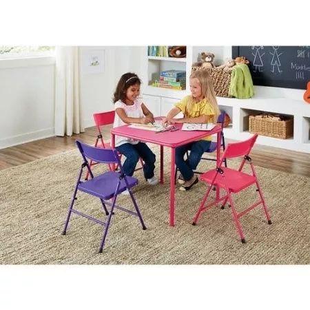 mesa infantil con sillas plegables para nias rosa morado