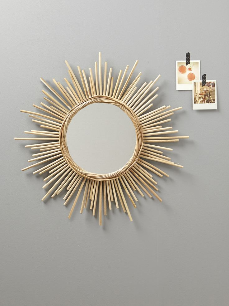 90 best decoration murale images on pinterest for Miroir soleil deco