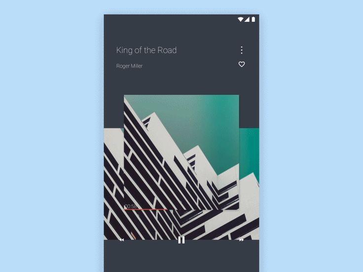 Music Player App Ui animated, material design