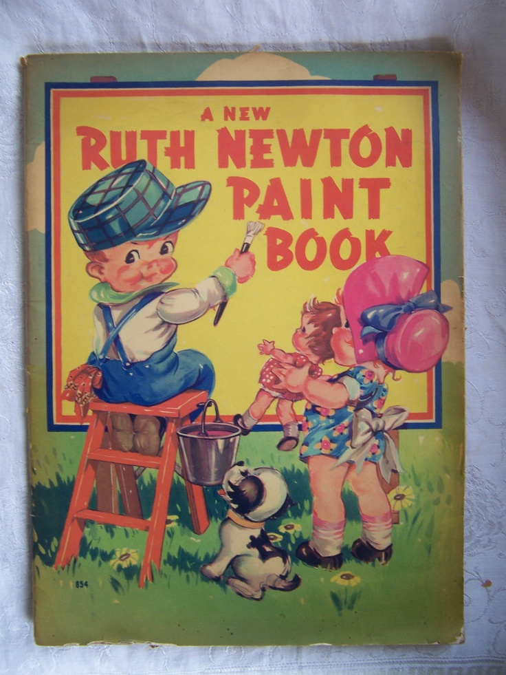 "VINTAGE PAINT BOOK ""A RUTH NEWTON PAINT BOOK "",1930s Coloring Book #854."