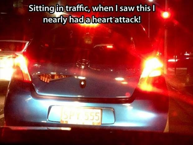 Sticker of guy peeking out of trunk · heart attackcar stickersfunny